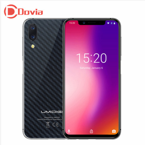 UMIDIGI un 4G Smartphone 5,86 pulgadas Android 8,1 MTK6763 Octa Core 4 GB RAM 32 GB ROM 12MP + 5.0MP de cámara cara desbloquear teléfono móvil
