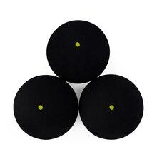 2 шт./4 шт. Натуральная Резина Одиночная желтая точка сквош мяч скорость спортивные тренировочные болы шарики-амортизаторы точки желтый Сквош шар настенный шар