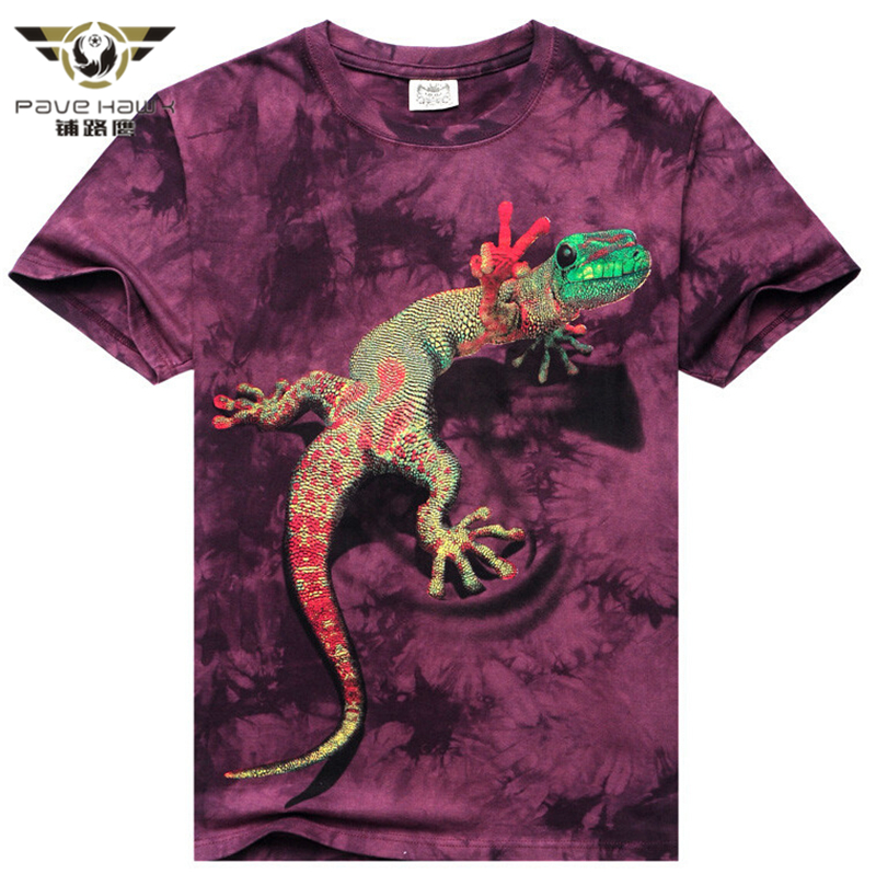 Spring Summer 3D T Shirt Animal Short Sleeves Cotton O-Neck Tiedye Personalized T-Shirt Water Printed Tee Shirts T-Shirts Clothe