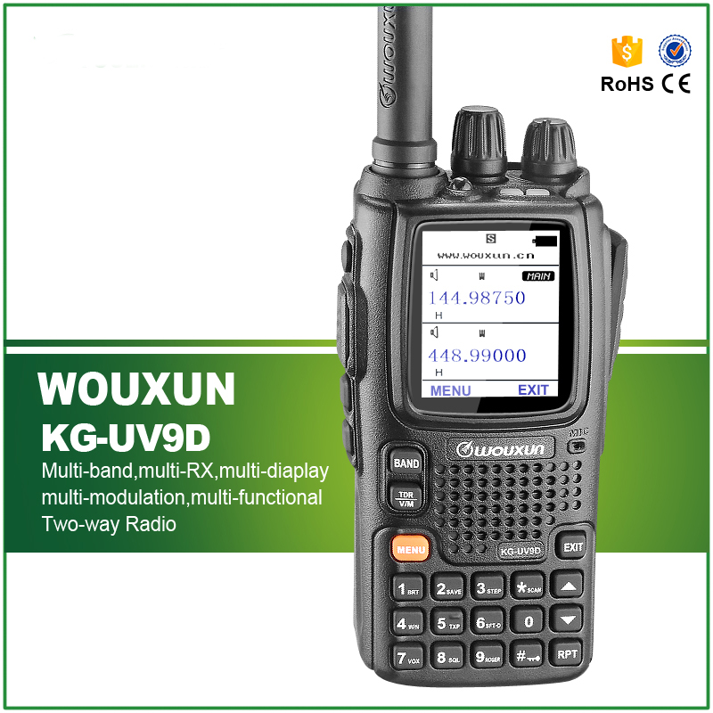 New Walkie Talkie KG-UV9D VHF136-174MHz &UHF400-512MHz Dual Band Multi-functional Radio Dual Band TX,SEVEN BANDS RX