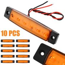 10pcs/set 12V 6LED Waterproof Truck Trailer Lorry Bus Side Marker Indicators Light Lamp Amber