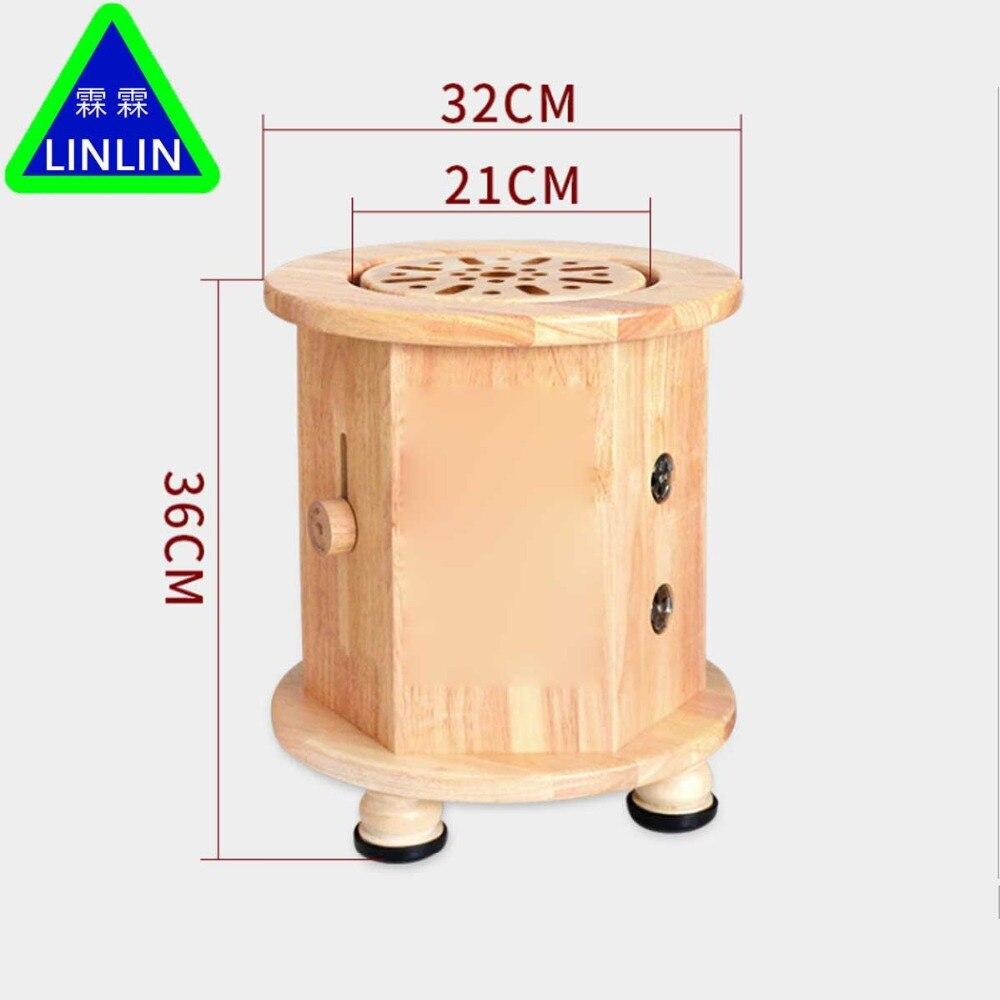 LINLIN chêne système d'acupuncture et de massage banc chauffant appareil de moxibustion ménage Aizhu bloc chaise fumée sans fumée