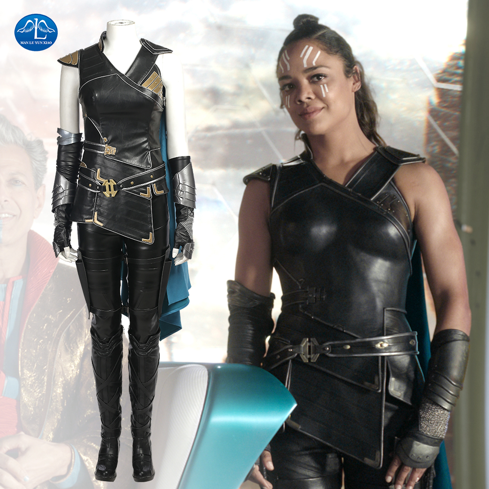 Thor Ragnarok Valkyrie Cosplay Costume Thor 3 Outfit Movie Superhero Battle Suit Fancy Clothes Halloween Costumes For Women