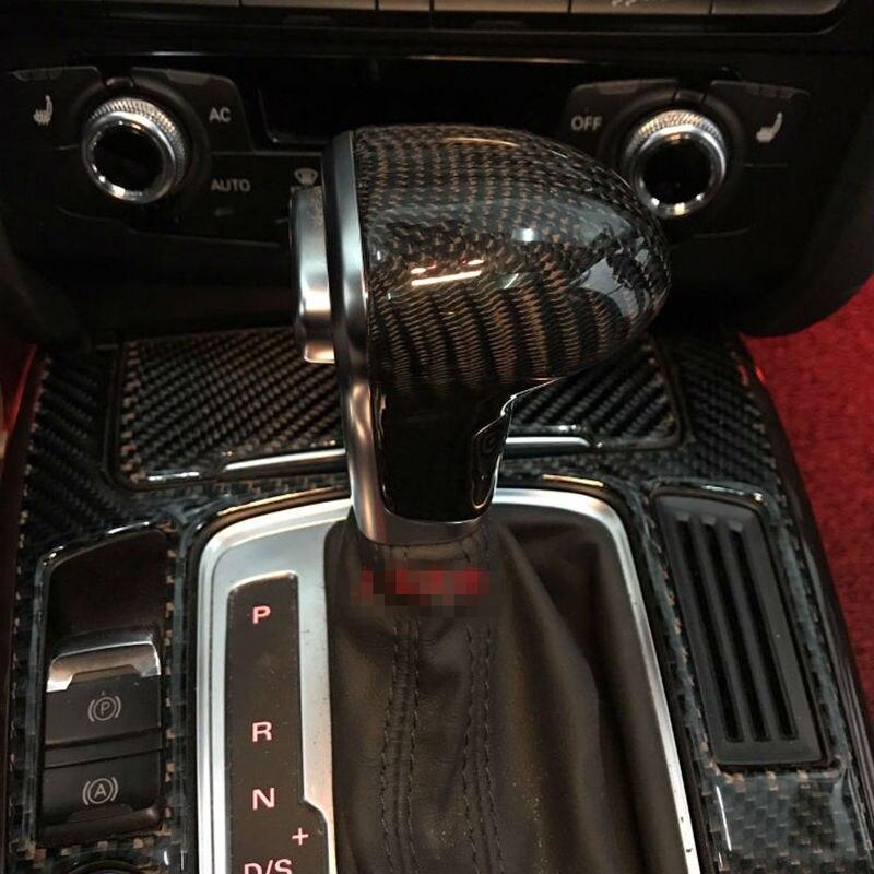 New Black Leather Chrome Gear Shift Knob AT Gaiter For Audi A3 A4 A5 A6 A7 Q5 C6 Q7  4GD 713 139  8KD 719 139 4F1 713 139