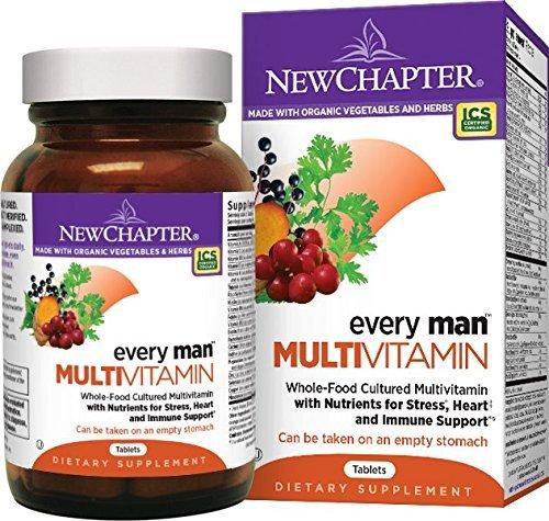 Novo Capítulo de Cada Homem dos homens Multivitamínico Fermentados Probióticos Selênio Vitaminas do Complexo B Vitamina D3 Ingredientes Orgânicos Não-OGM 120 ct