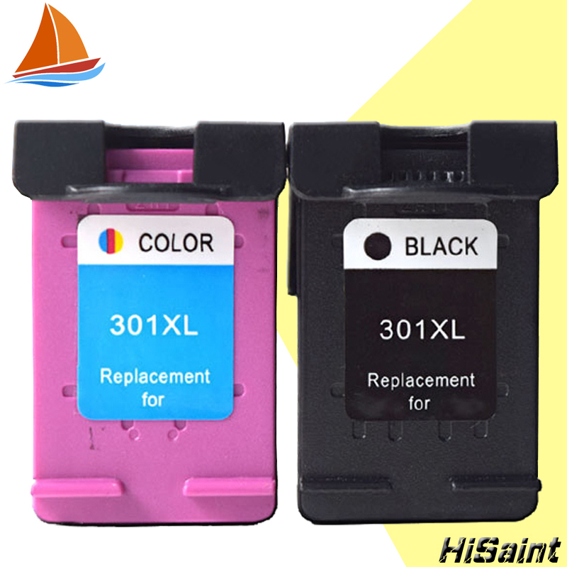 Hisaint Listing 2 Pack 301XL Ink Cartridge Replacement for HP 301 xl CH563EE CH564EE for Deskjet