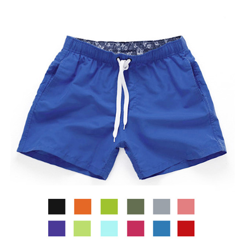 2017 New Summer Men's Beach Shorts Quickly Bermuda Candy Colors Printed Casual Boardshorts Bermuda Masculina Plus Size S-2
