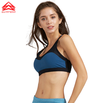SYPREM seamless sports bra women sexy mesh back bra no steel ring breathable yoga brand underwear push up sports bra,1FT1070 4