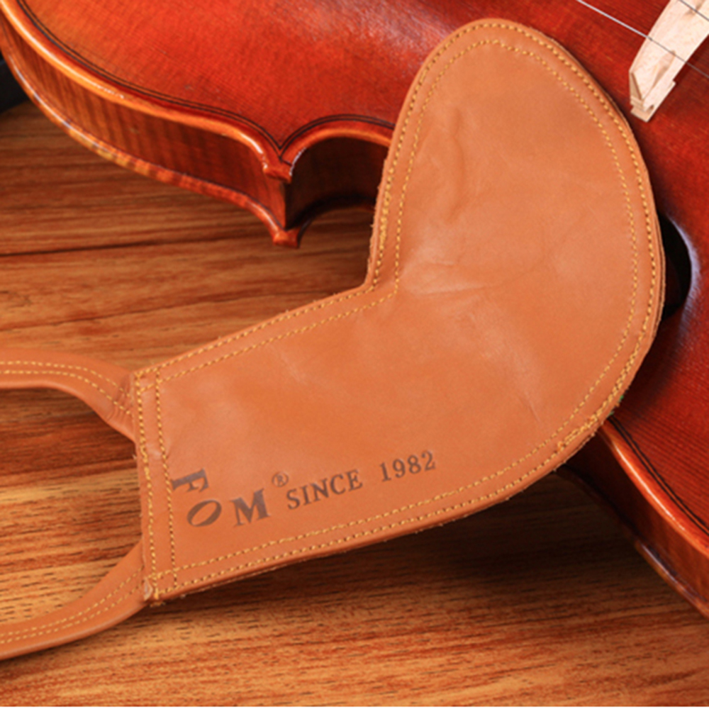 Fom Violin Viola Leather Chinrest Pad Padded Chin Fiddle Volin Viola Partners Musical Instruments Crafted Sheep Skin 3/4 1/4 4/4