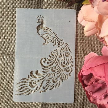 1Pcs A5 Peacock DIY Layering Stencils Wall Painting Scrapbook Coloring Embossing Album Decorative Card Template