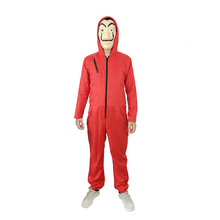 La Casa De Papel Salvador Dali Cosplay Costume The House of Paper Heist Halloween Without Mask Jumpsuit Set