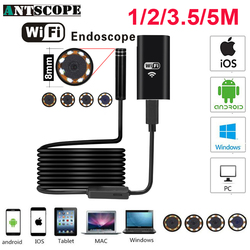 Antscope Wifi Endoscope Camera Android 720P Iphone Borescope Camera Endoscopio Semi Rigid Hard Tube and Softwire iOS Endoscope