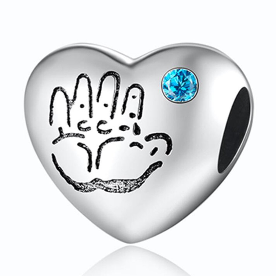 Authentic 925 Sterling Silver Openwork Opulent Heart Struck By Love With Crystal Bead Charm Fit Pandora Bracelet Bangle Jewelry