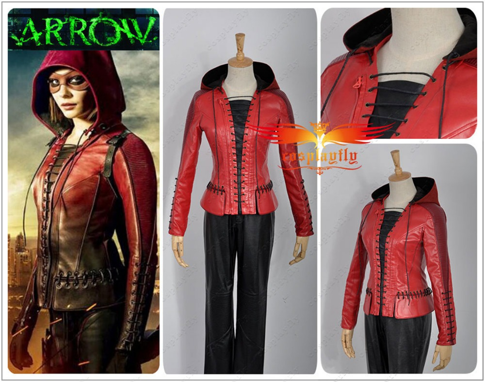 Green Arrow Season 4 Thea Queen Cosplay Custom Costume Adult Women Outfit Clothing Halloween Christmas (No Painting Series)