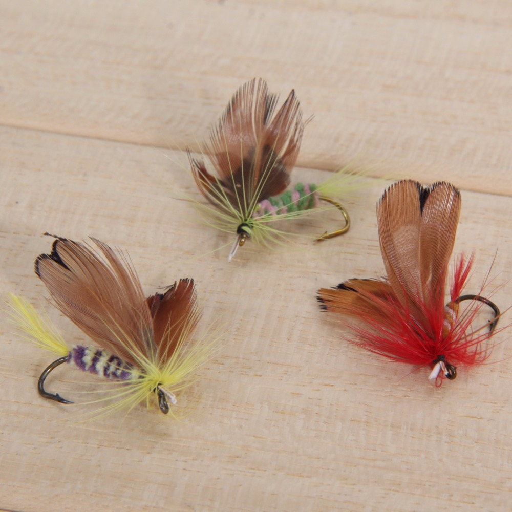 Wholesale Fly Fishing Flies: 12pcs/Lot Various Dry Fly Trout Salmon Floating Insect Dry