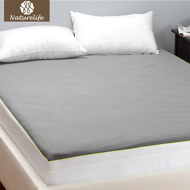 Naturelife 100 Waterproof Mattress Protector Grey Premium Hypoallergenic Ed Cover With Deep Pocket