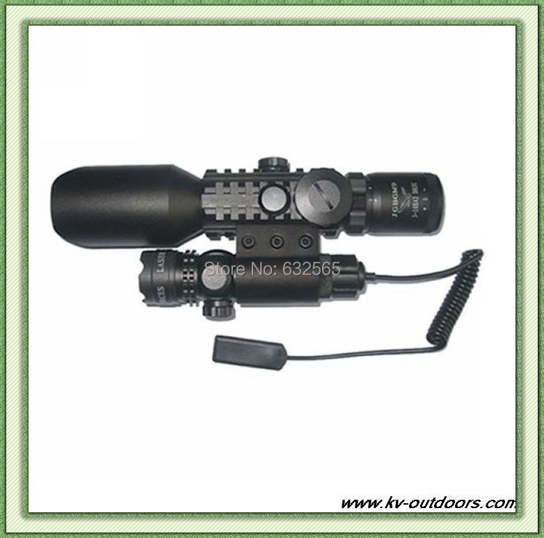 Free Shipping! 3-10X42 M9A rifle scope red green Mil-Dot Reticle with side mounted Green laser free shipping 3 10x42 m9a rifle scope red green mil dot reticle with side mounted green laser