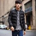 Estilo simples pure color curto de algodão casaco acolchoado dos homens engrossar quente casaco de roupas masculinas dos homens casuais tamanho m-5xl MF1-1