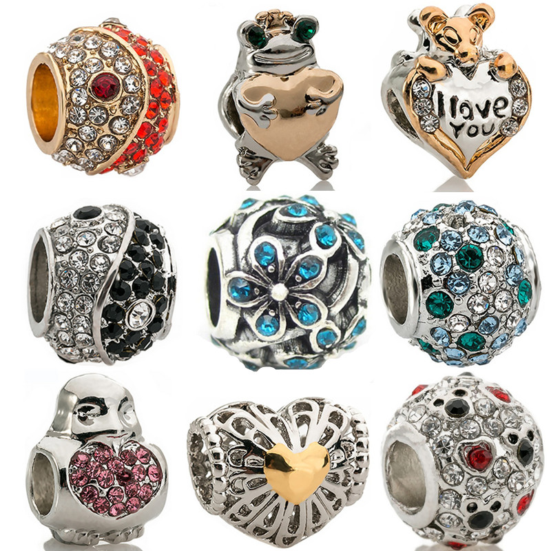 Symbol Of The Brand Spinner Her Majesty Spacer Charm Beads Fit Pandora Original Bracelet Necklace Authentic Jewelry Gift Jewelry & Accessories
