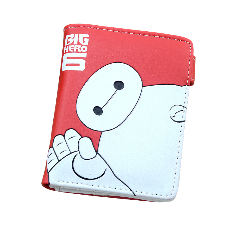 Colorful Printing Big Hero 6 Baymax PU Short Purse Wallet with Button