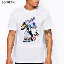 2019 summer tops t shirt men Monster dinosaur printed tee shirt homme funny Hip Hop Tshirt Streetwear T-Shirts Short Sleeve tee стоимость
