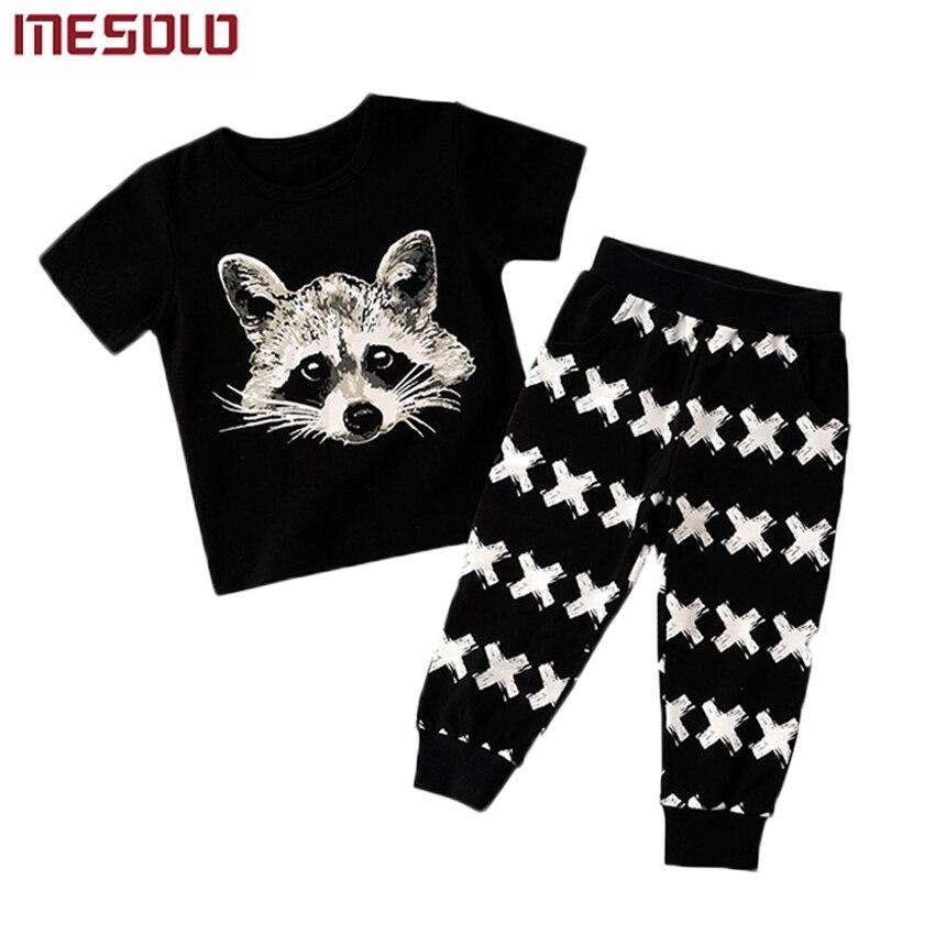 218b624ad Ropa de verano para niños sets boy t-shirt + pants suit set de ropa