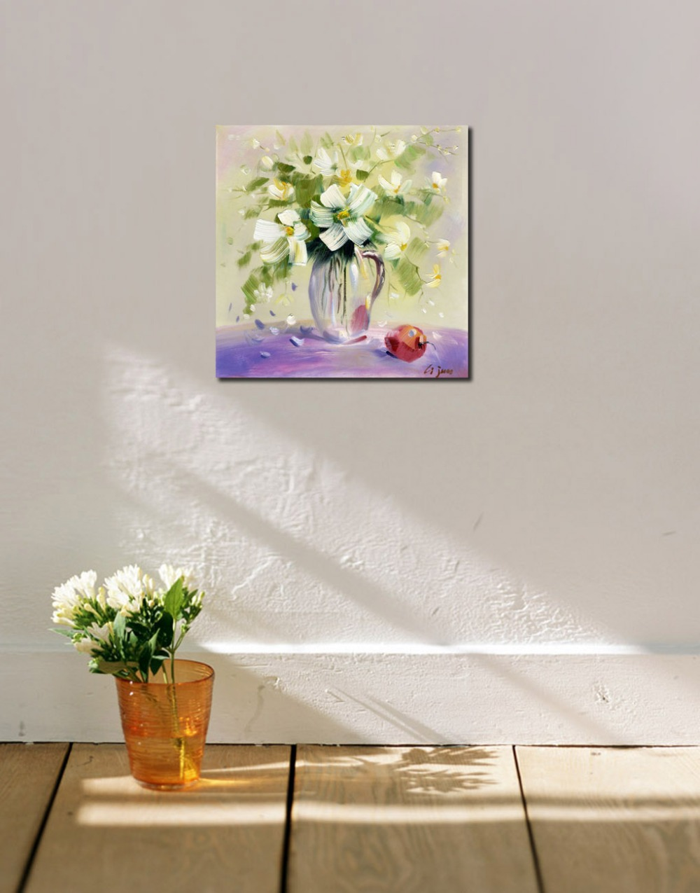 Classic white flowers in the vase oil painting printed on canvas classic white flowers in the vase oil painting printed on canvas unique decorative picture for living room cafe hotel wall decor in painting calligraphy reviewsmspy