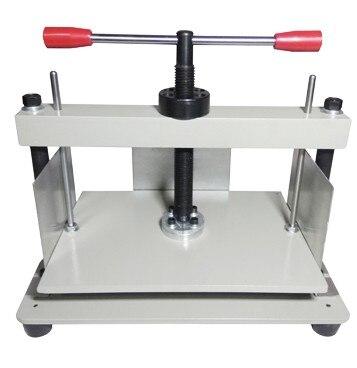 A4 גודל ידני שטוח נייר עיתונות מכונת עבור ספרי צילום, חשבוניות, בדיקות, חוברות, נושך מכונה