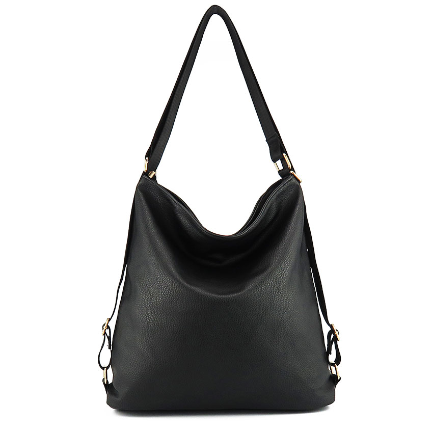 Artificial leather shoulder bag female big handbag women black color totes bags woman hobos