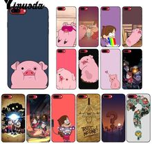 Yinuoda Gravity Falls pig TPU Soft Silicone Black Phone Case for Apple iPhone 8 7 6 6S Plus X XS MAX 5 5S SE XR Mobile Cases yinuoda animals dogs dachshund soft tpu phone case for apple iphone 8 7 6 6s plus x xs max 5 5s se xr mobile cover