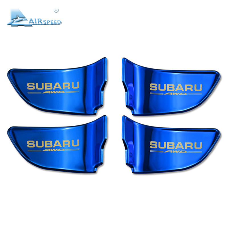 Vitesse pour Subaru Forester Outback Héritage XV BRZ WRX Accessoires Intérieur De Porte De Voiture Couvercle de la Poignée de Porte Bol Décoration Autocollants