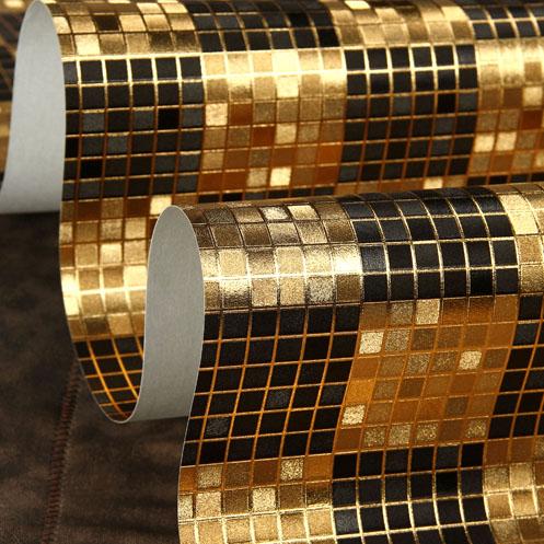 -Alto grau de Não-tecido Papel de Parede Moderno Mosaico Restaurante Bar Do Hotel KTV Folha de Rolo De Papel De Parede Decorativo À Prova D' Água