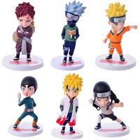 6pcs/set Naruto Figure Uzumaki Naruto Hatake Kakashi Action Toy Figures Naruto Toy Decoration X206