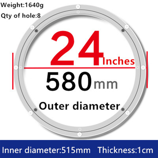 1pc 24 Inches 58cm Big Aluminium Alloy Swivel Plate For Kitchen Furniture Lazy  Susan Turntable Dining