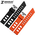 20mm cheap custom silicone bracelet  black|orange rubber watchband for mens waterproof silicone bracelet watch