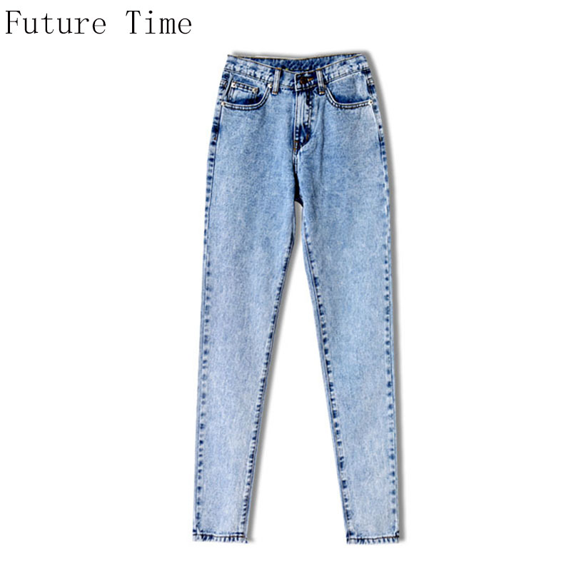 BF Loose New Women Jeans High Waist Ankle Length Snow Casual Boyfriend Straight Pants 2017 Hot Sale Female Streetwear NZ242 ...