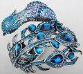 Pavão pulseira para as mulheres de cristal rhinestone pulseira cuff jóias A29 atacado dropship por atacado