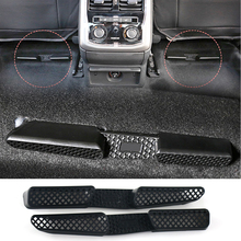 2PCS For Seat Leon Skoda Octavia MK2 2005-2013 Car Seat Floor Heater Air Conditioner Duct Vent Cover Outlet Grille Protective