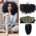 Lace Frontal Closure kinky curly Brazilian virgin hair Lace Frontal 13X6 Ear To Ear Lace Frontals With Baby Hair Bleached Knots