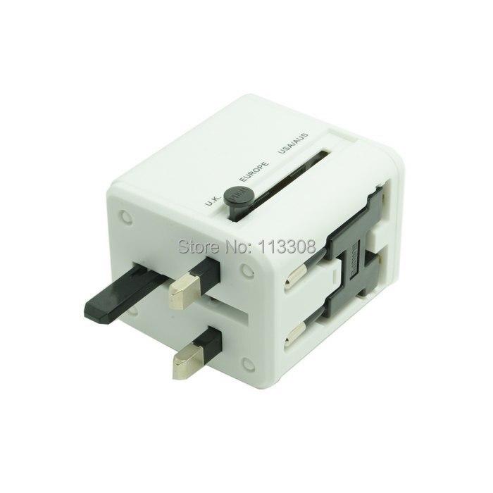 100 unids/lote Universal Adaptador de Enchufe de Viaje Convertidor Eléctrico EE.UU. REINO UNIDO Europa con Doble Puerto de Carga USB, por DHL UPS