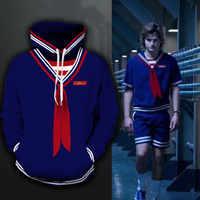 Neue Fremden Dinge 3 Steve Harrington Cosplay Kostüme Baumwolle Hoodies Sweatshirt Sportswear Pullover Jacken Mantel Top Pullover