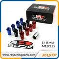 RASTP - M12x1.25 JDM Blox Anti Theft Aluminum Wheel Lug Nuts Length 45mm M12x1.25 for Honda Toyota Ford 20Pcs/pack LS-LN028