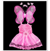 4 PCS Girl Birthday Dress & Angel Dress