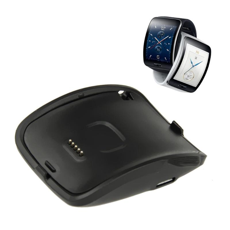 vanpower 2PCS Portable Details About Black Plastic Charging Dock Cradle for Samsung Galaxy Gear S Smart Watch SM-R750 compact battery charging dock cradle for samsung i9100