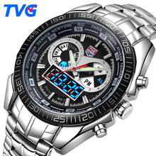TVG Luxury Brand Watch Men Waterproof Sport Digital LED Watch Military Quartz WristWatches Clock Men Relogio Masculino Xfcs