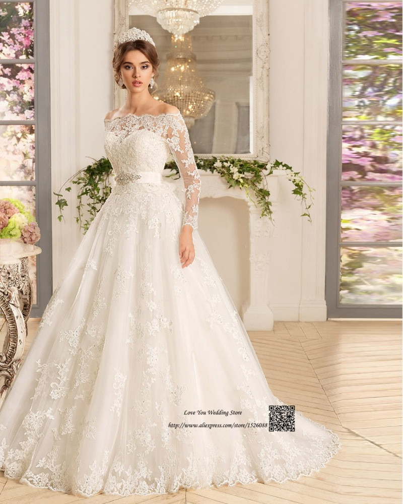 Western Country Turkey Boho Wedding Dress Long Sleeve Lace Bridal ...