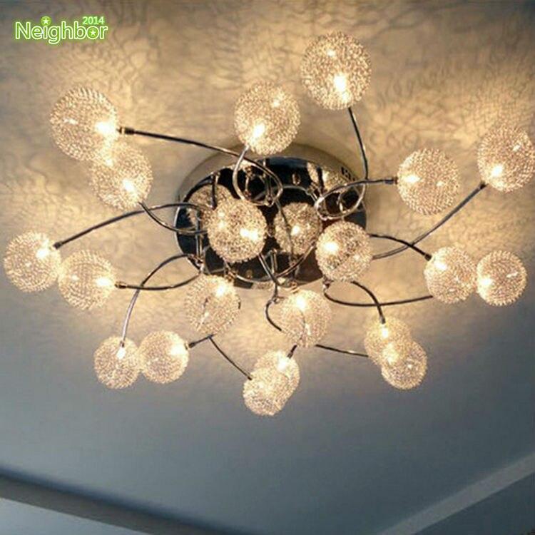 Moderne 20 Lampealuminiumglaskugeln Shade Deckenleuchte Wohnzimmer Schlafzimmer Esszimmer Beleuchtung