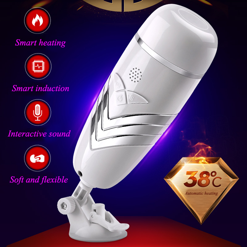 ORISSI Auto Heating Male Masturbator Rechargeable Vibrating Electric Aircraft Cup Vagina Sucking Sex Toys For Men Sex Products