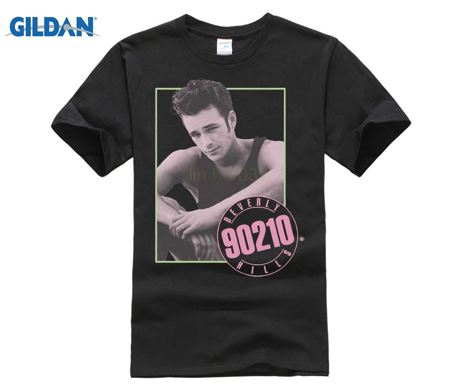 290a8ab0b Gildan Beverly Hills 90210 Tv Show Dylan Mckay Luke Perry Picture Adult  Men'S Crew Neck Short