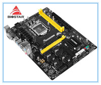 New BIOSTAR Motherboar DDR4 TB250 BTC PRO Mining 12PCIE Support 12 Video Card BTC ETH ZEC